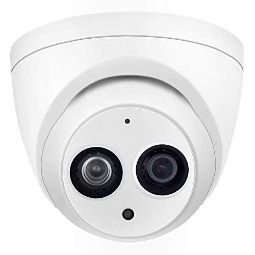 4MP Outdoor Security PoE IP Camera HDW4433C-A 2.8mm Fixed Lens,2688x1520 Resolution,EXIR Turret Network Surveillance Camera,164ft/50m Night Vision, H.265,IP67,ONVIF