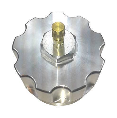 TamerX Billet Aluminum Oil Filter Cap w/Pressure Test Port Compatible With Ford Power Stroke 6.0L...