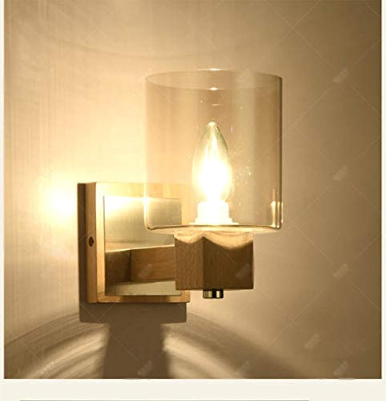 Modernen Minimalistischen Schlafzimmer Nachttischlampe Warm Und Kreative Persnlichkeit Gang Lichter Solid Wood Art Led-Lampen Auswhlen (Farbe  Holz Farbe)