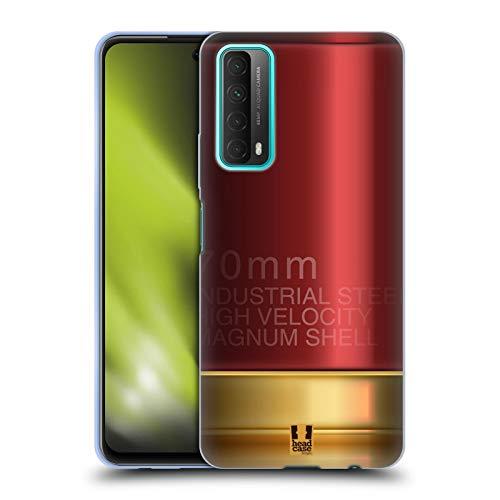 Head Case Designs Escopeta Balas de Metal del Artillero Carcasa de Gel de Silicona Compatible con Huawei P Smart (2021)