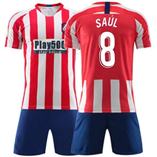 XH Jersey de fútbol de los Hombres -Set Saúl Ñíguez # 8, Todos los tamaños niños y Adultos (Color : A, Size : Children-130)