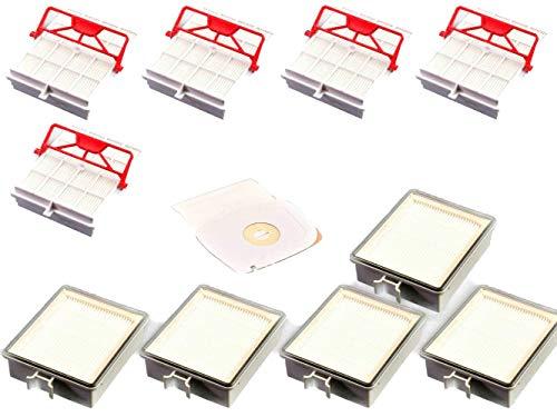 5 filtros higiénicos de carbón + 5 filtros de salida + 40 bolsas de aspiradora compatibles con LUX Intelligence
