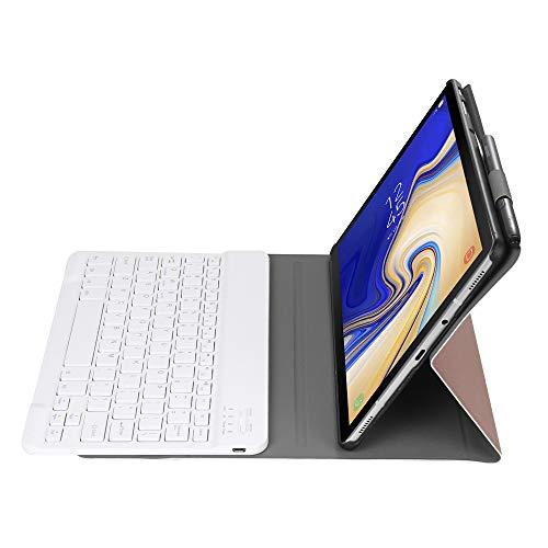 YEYOUCAI Accesorios para tabletas A510 Bluetooth 3.0 Funda de Cuero Bluetooth Desmontable Ultra Delgada para Samsung Galaxy Tab A 10.1 T510 / T515, con Ranura de lápiz y Soporte