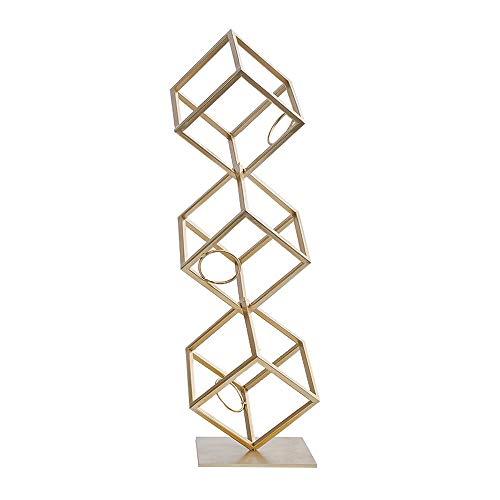 Home Wine Rack 2 Layer / 3 Schichten Lagerung Freistehend Kreative Metallweinkabinett Dekoration Modern Einfache Wohnzimmer TV Kabinett Handwerk Gold (Color : 3 Layers)
