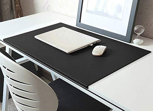 Schreibtischunterlage mit Kantenschutz,Wasserdichtes Leder Schreibunterlage,Rutschfeste Mauspad Große Tischunterlage für Tastatur Laptop,Büro Schreibenmatte Schreibtisch Organizer Matte