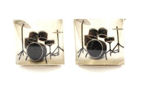 Handgefertigt Drum Manschettenknöpfe