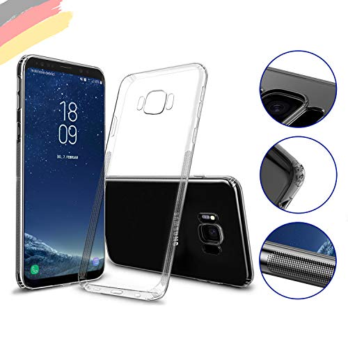 Preisvergleich Produktbild Hetcher Tech Hülle für Samsung Galaxy S8 transparent Silikon - Viele Vorteile - Handyhülle Schutzhülle für S8 - Liquid Slim Clear Case - Cover Bumper Ultra dünn