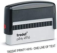 Custom Single Line Stamp - Self Inking - Long Narrow Stamp