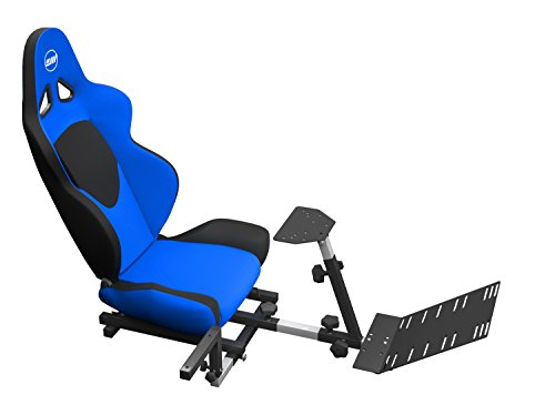 OpenWheeler Advanced Racing Seat Driving Simulator Gaming Chair with Gear Shifter Mount Blue