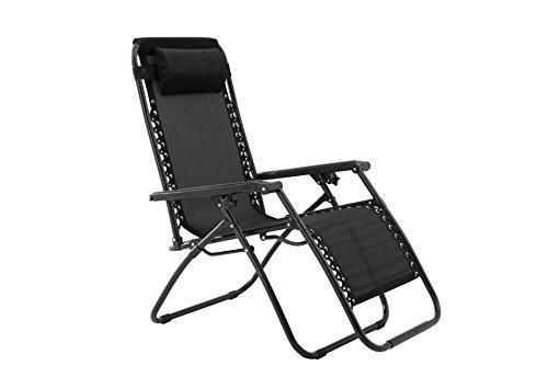 Oversized Zero Gravity Chair - Black
