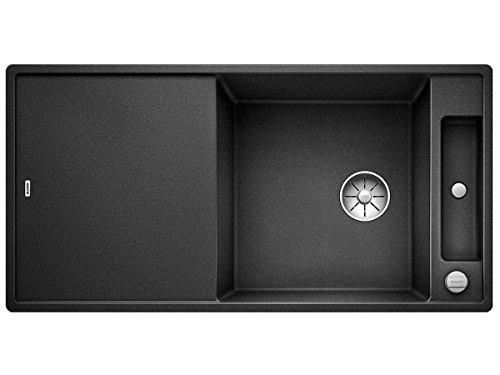 Blanco Axia III XL 6 S-F Anthrazit Schwarz 523 526 Granitspüle Spülbecken Küche mit Glasschneidbrett Exzenterbetätigung