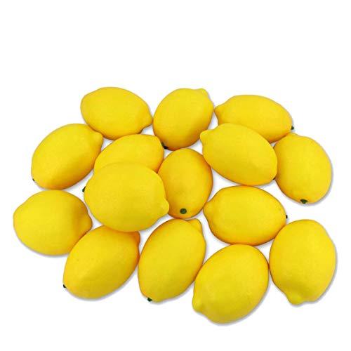 TOOGOO 15 Piezas de SimulacióN de Fruta Artificial Artificial Decoraciones de LimóN Amarillo, para Pinturas de Naturaleza Muerta DecoracióN de Fiesta de Cocina Casera