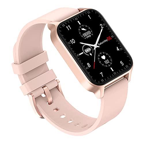 Smartwatch, Reloj Inteligente Hombre Mujer con 1.65' Pantalla TáCtil Completa para PulsóMetro, Monitor De SueñO,PodóMetro, Modo De NatacióN, Pulsera De Actividad para Android iOS,Rosado