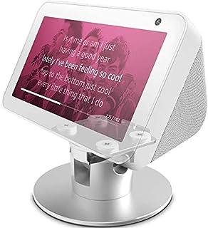 Echo Show 5 Adjustable Stand, Stand for Amazon Echo Show 5, Horizontal 360 Rotation Longitudinal Angle Change Base -White ...