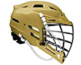 New Cascade CPV-R Lacrosse Helmet with Silver Face Mask (Choose Your Shell Color)-Old Gold-Adult-Large