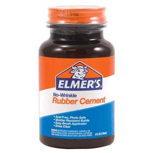 Elmer's E904 Rubber Cement, Repositionable, 4 oz