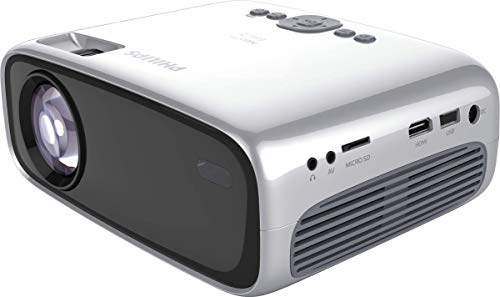 Philips NeoPix Easy 2+ LED-Beamer, silber, WXGA, HDMI, Mediaplayerr