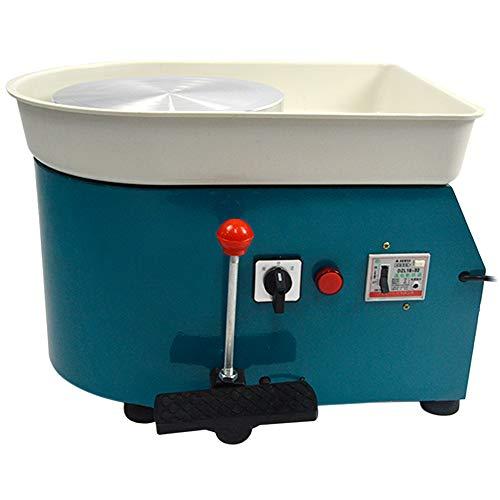 FLBETYY Pottery Wheel Forming Machine 25CM Electric Pottery Wheel DIY Machine for Ceramic Work Clay Art Craft 110V 350W (Blue)
