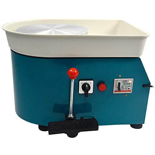 FLBETYY Pottery Wheel Forming Machine 25CM Electric Pottery Wheel DIY Machine for Ceramic Work Clay Art Craft 110V 350W (Blue)