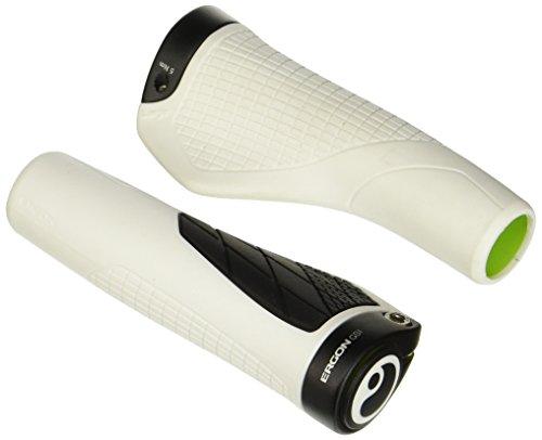 Ergon - GS1 Ergonomic Lock-on Bicycle Handlebar Grips | Regular Compatibility | for XC, Marathon and Trail Bikes | Large | White