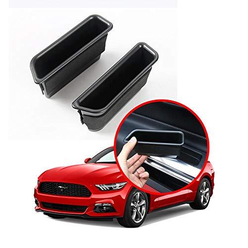 TAYDMEO Für Ford Mustang 2015-2019, Autotür Seitenlager Paletten Armlehne Container Box Kunststoff Aufbewahrungsbox Telefonablage Zubehör