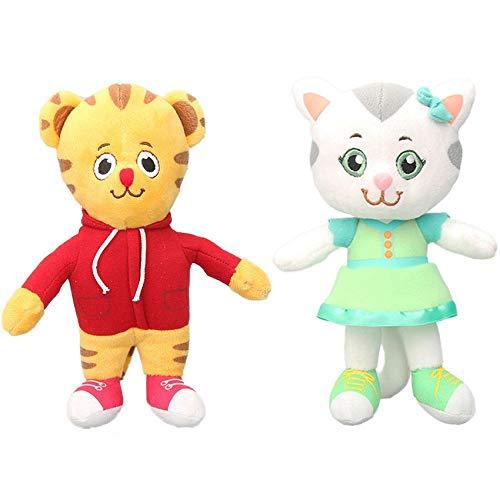 40pcs EMS 7.8' Daniel Tiger's Neighborhood Friends Plush Toy Katerina Kittycat Miss Elaina Prince Wednesday Soft Stuffed Dolls