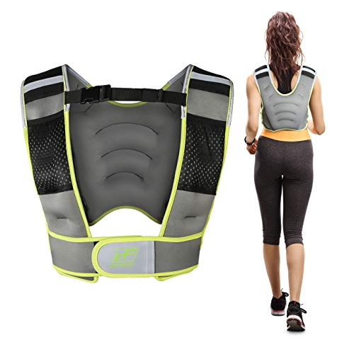 RitFit Adjustable Weighted Vest with Neoprene Fabric for Men&Women, 8lbs/10lbs/12lbs/15lbs/20lbs, Weight Vest for Workout, Strength Training, Muscle Building (Green - 12LB)