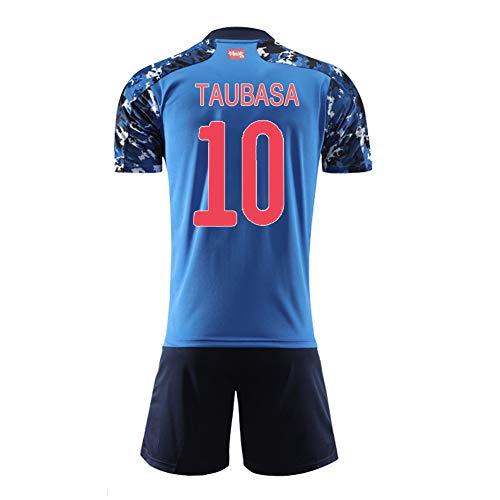 Erwachsener Kinderfußballanzug, Japan Team Anime Special Edition Trikot, Personalisiertes Fußballtrikot Fußballtrikot Kits T-Shirt & Shorts & Socken-Tsubasa 10-S