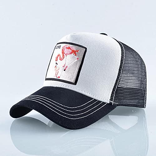 YDXC Mujeres Verano estímulo Gorras Transpirable Baseball Cap Hombres Streetwear bordador Trucker Hueso Unisex Sombreros de Hip Hop Gorro-White_Black