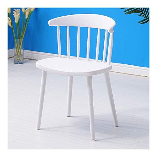 CHQYY Stuhl - Stuhl Rückenlehne Cafe-Haus Wohnzimmer Schlafzimmer Küche Dining Chair Moderne einfache Büro-Sitzungs-Mode Hocker Geeignet für drinnen und draußen (Farbe : Weiß)