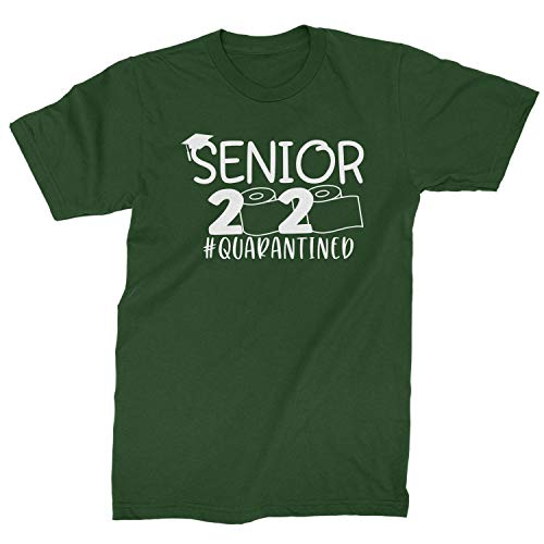 Mens Seniors 2020 Quarantined Toilet Paper T-Shirt X-Large Forest Green