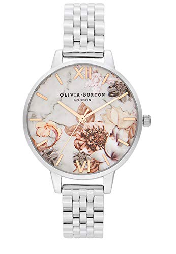 Olivia Burton Damen Analog Quarz Uhr mit Edelstahl Armband OB16CS31