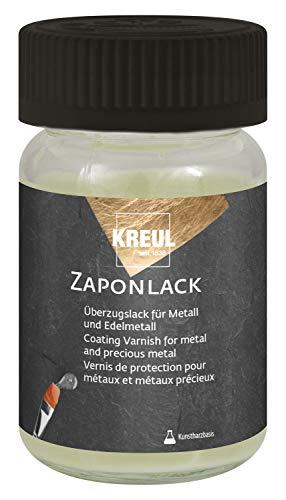Kreul 84060 - Zaponlack 60 ml, hochglänzender, transparenter Metall Schutzlack auf Kunstharzbasis, für Edelmetall wie Silber, Kupfer, Messing, Bronze, Zinn, Eisen