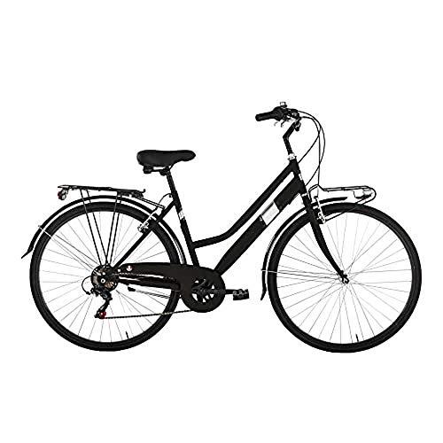 Alpina Bike Moving TRK, Bicicletta Trekking 6v Donna, Nero, 28'