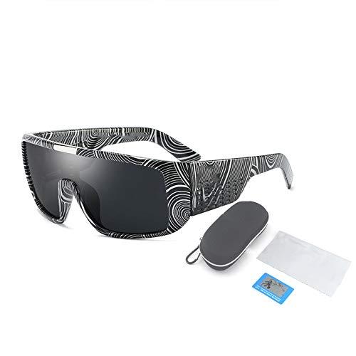 Gafas De Sol Polarizadas, Montura De Plástico Grande para Gafas Cuadradas Y Planas, Adecuadas para Hombres Y Mujeres Que Pescan, Montan Y Conducen,Gris