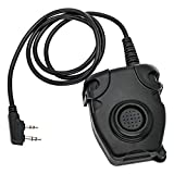 TAC-Sky U94 PTT Kenwood Adapter 2 pin Tactical Headset Accessories for Baofeng Walkie Talkie