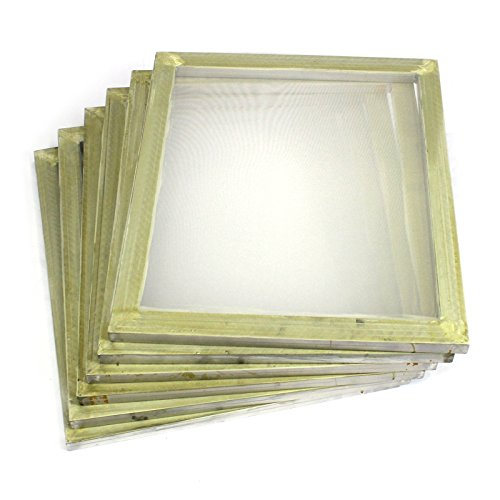 "Commercial Bargains 6 Pack Aluminum Silk Screen Printing Press Screens 110 White Mesh 20"" x 24"""
