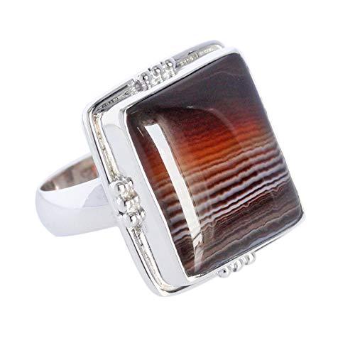 Hermoso anillo de ágata para hombre, plata de ley 925 maciza Sz 10, proveedores de joyas, nuevo anillo, FSJ-3385