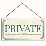 MAIYUAN Wooden Sign Private Sign Home Decor Wood Sign Plaque 12' x 6' Hanging Wall Art, Decorative Funny Sign,Garden Sign(W5T-26)