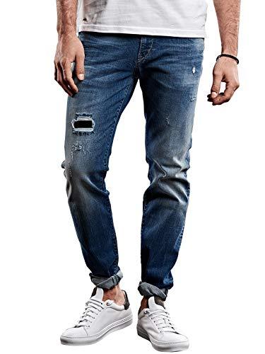 emilio adani Herren Destroyed Jeans, 27977, Blau in Größe 30/34