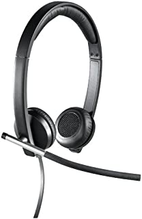 Logitech H650e Wired Headset, Stereo Headphones with Noise-Cancelling Microphone, USB, In-Line Controls, Indicator LED, PC...