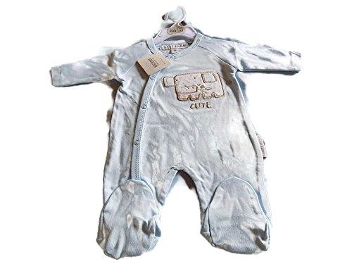 Bébé Coton tout en un body Inscription Cute Couleur Bleu bleu bleu 3-6mths