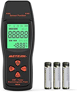Meterk EMF Meter Electromagnetic Field Radiation Detector Handheld Mini Digital LCD EMF..