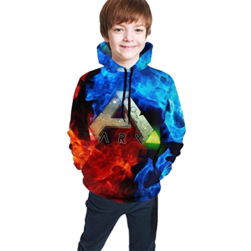 CHICLI Youth Teen Ark-Survival-Evolved Logo Winter Hoodie Sweatershirt Long Sleeve Pullover Hoodies for Teens Boys Girls Clothes