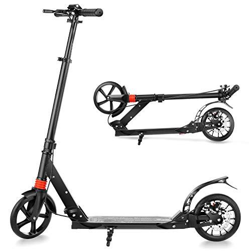 YUEBO Patinete infantil o adulto plegable Patinete Big Wheel 2 ruedas ajustable en altura ideal para adultos y niños con capacidad de peso: 220 kg