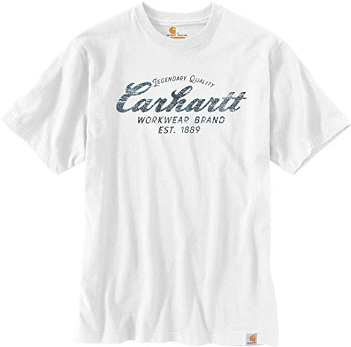 Carhartt . 104453.Wht.S005 Southern Graphic Camiseta de Manga Corta para Hombre, Color Blanco, Talla M