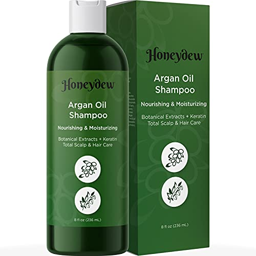 Argan Oil Shampoo for Dry Hair - Sulfate Free Clarifying Shampoo for Greasy Hair and Scalp - Volumizing Shampoo for Men and Women with Argan Oil for Hair and Nourishing Keratin and Jojoba Oil