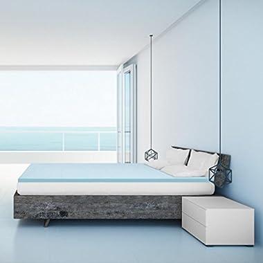 Best Price Mattress Queen Mattress Topper - 1.5 Inch Gel Memory Foam Bed Topper with Cooling Mattress Pad, Queen Size