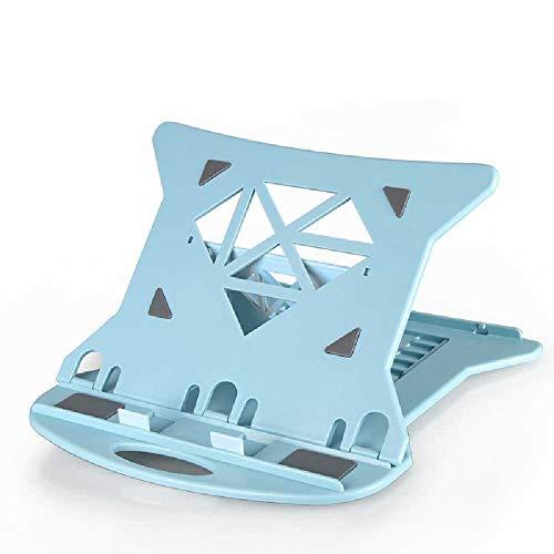 N\C Soporte para ordenador portátil plegable portátil ventilado escritorio portátil soporte bandeja ajustable azul