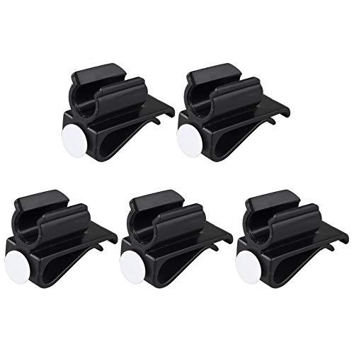 Futheda 5 Soportes para Palos de Golf con Clip para Sujetar el Putter, Organizador con marcadores de Bolas, Color Negro